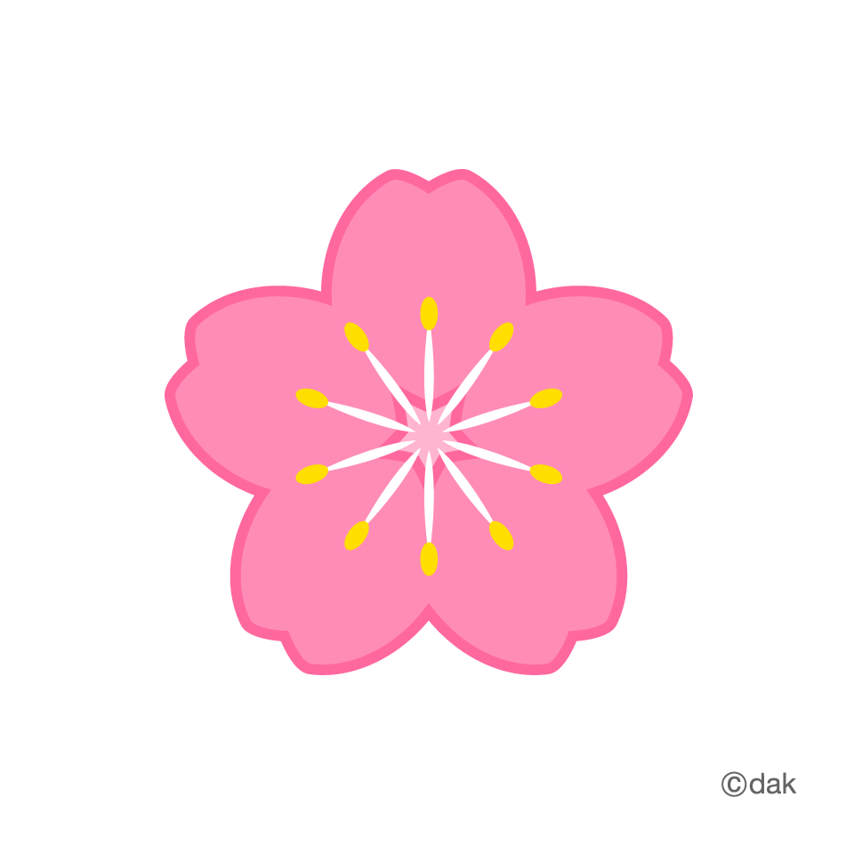 Heart clipart cherry. Flower symbol of the