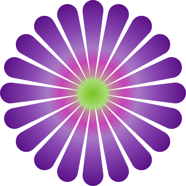 Clip art at clker. Daisy clipart purple
