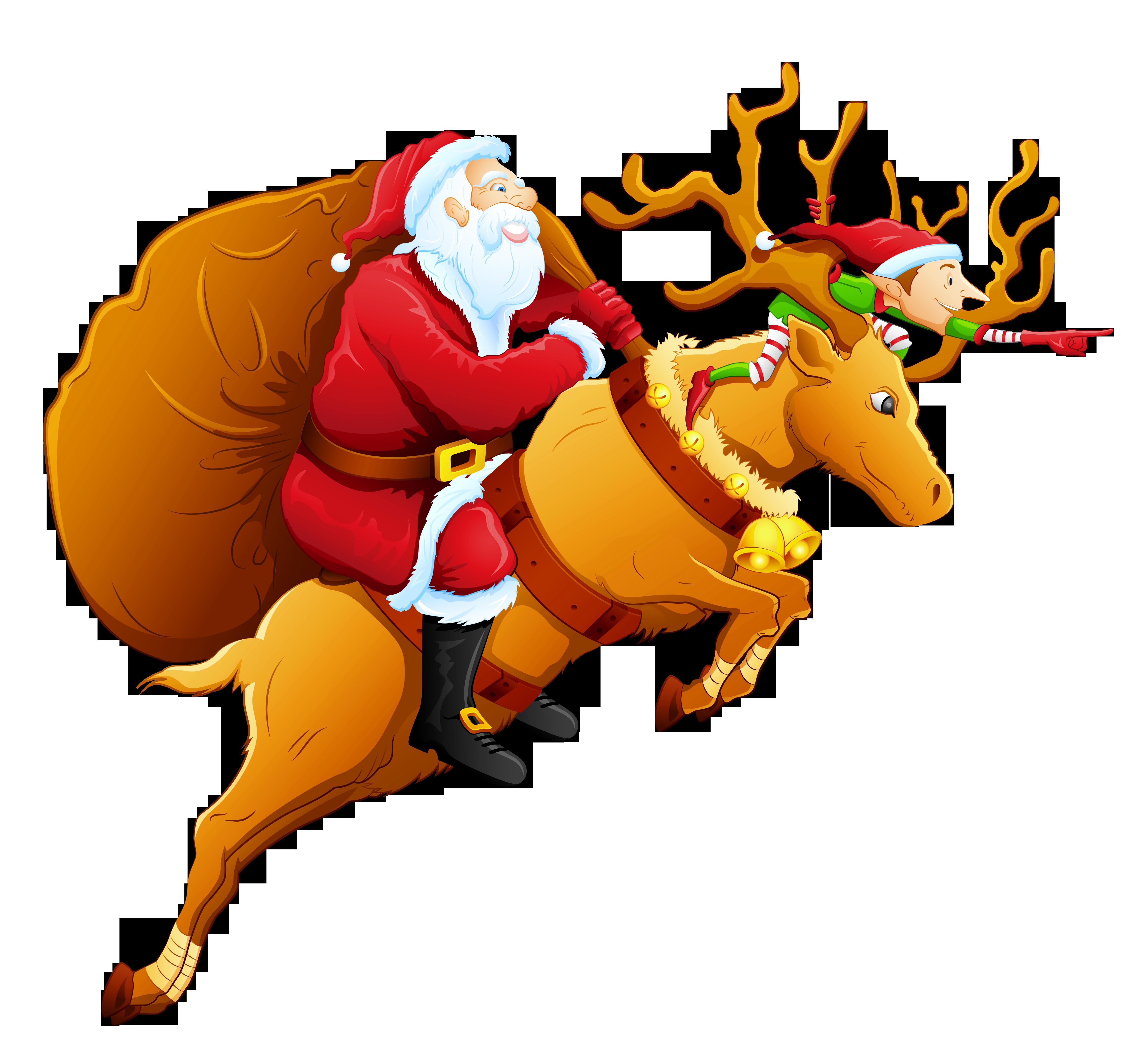 Santa and png gallery. Clipart reindeer easy