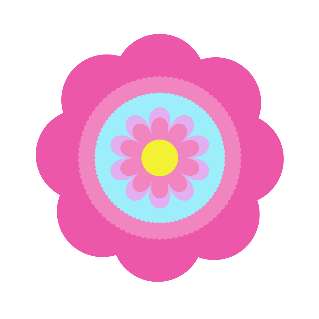 Free digital flower jdesignshandmade. Craft clipart cute