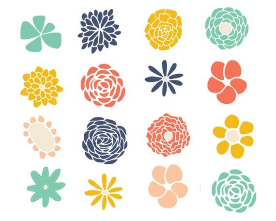 Sale off flower doodle. Design clipart cute