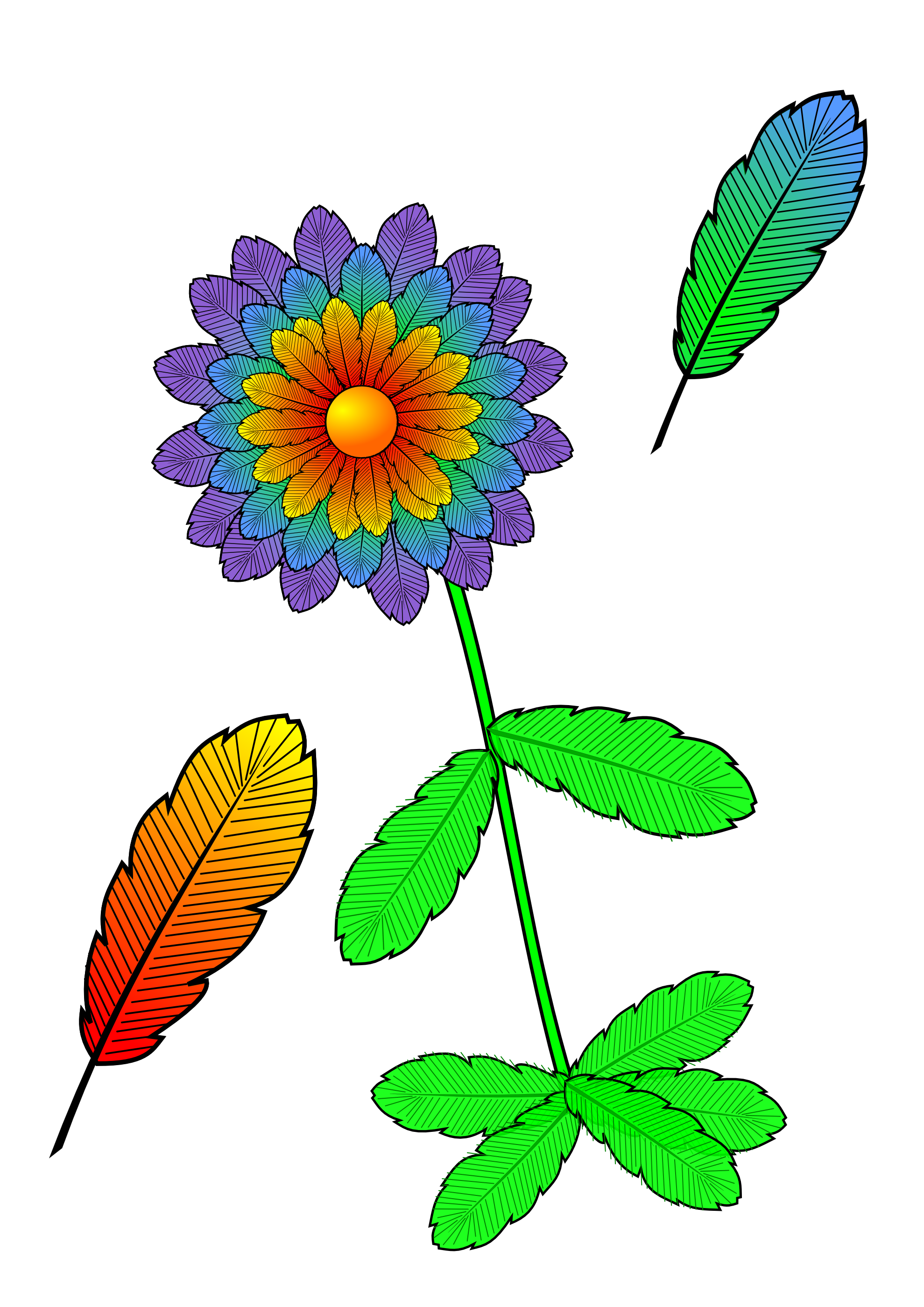 Flower clipart feather. Clipartist net openclipart org