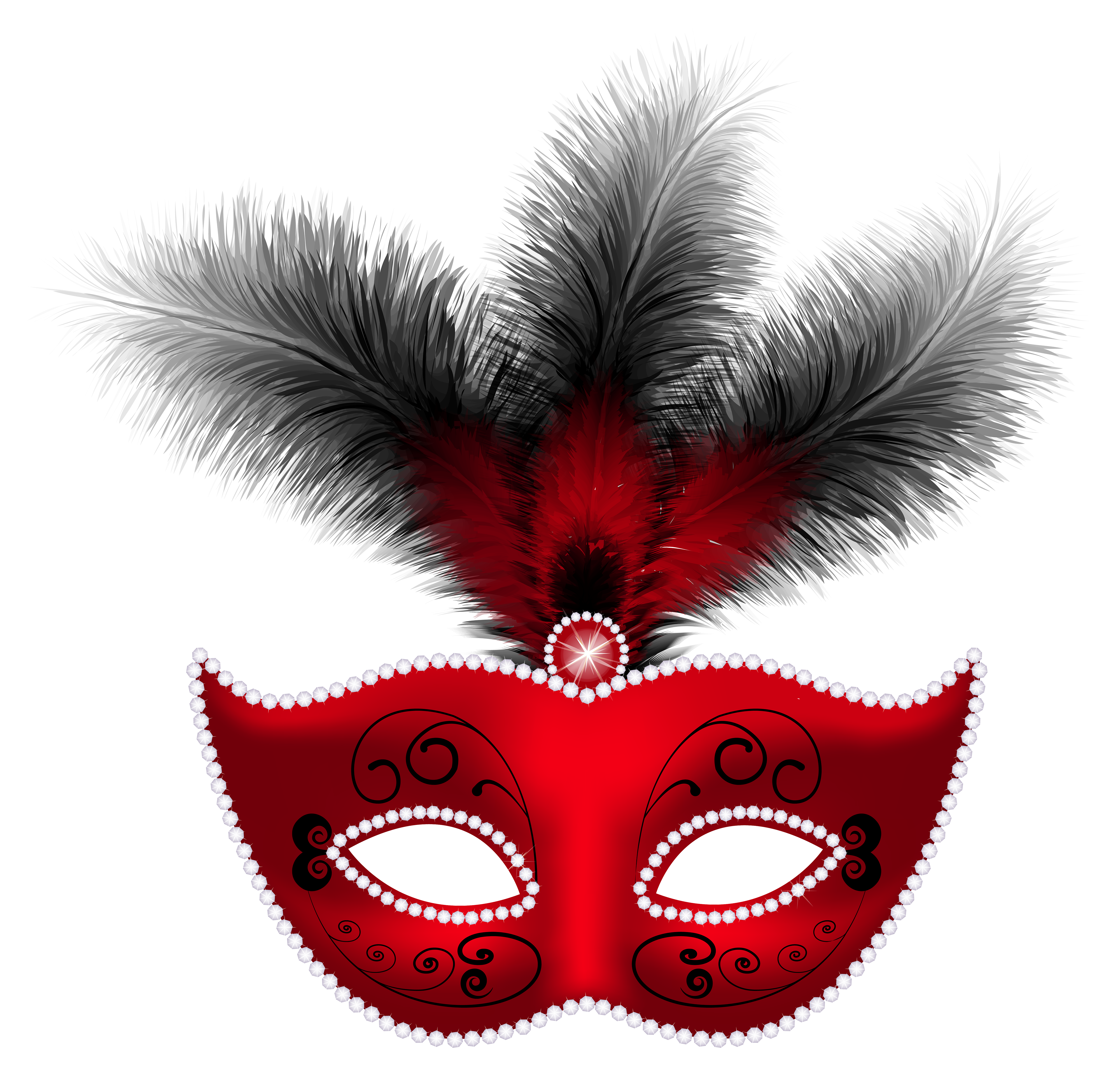 Feather clipart carnival. Red mask png clip