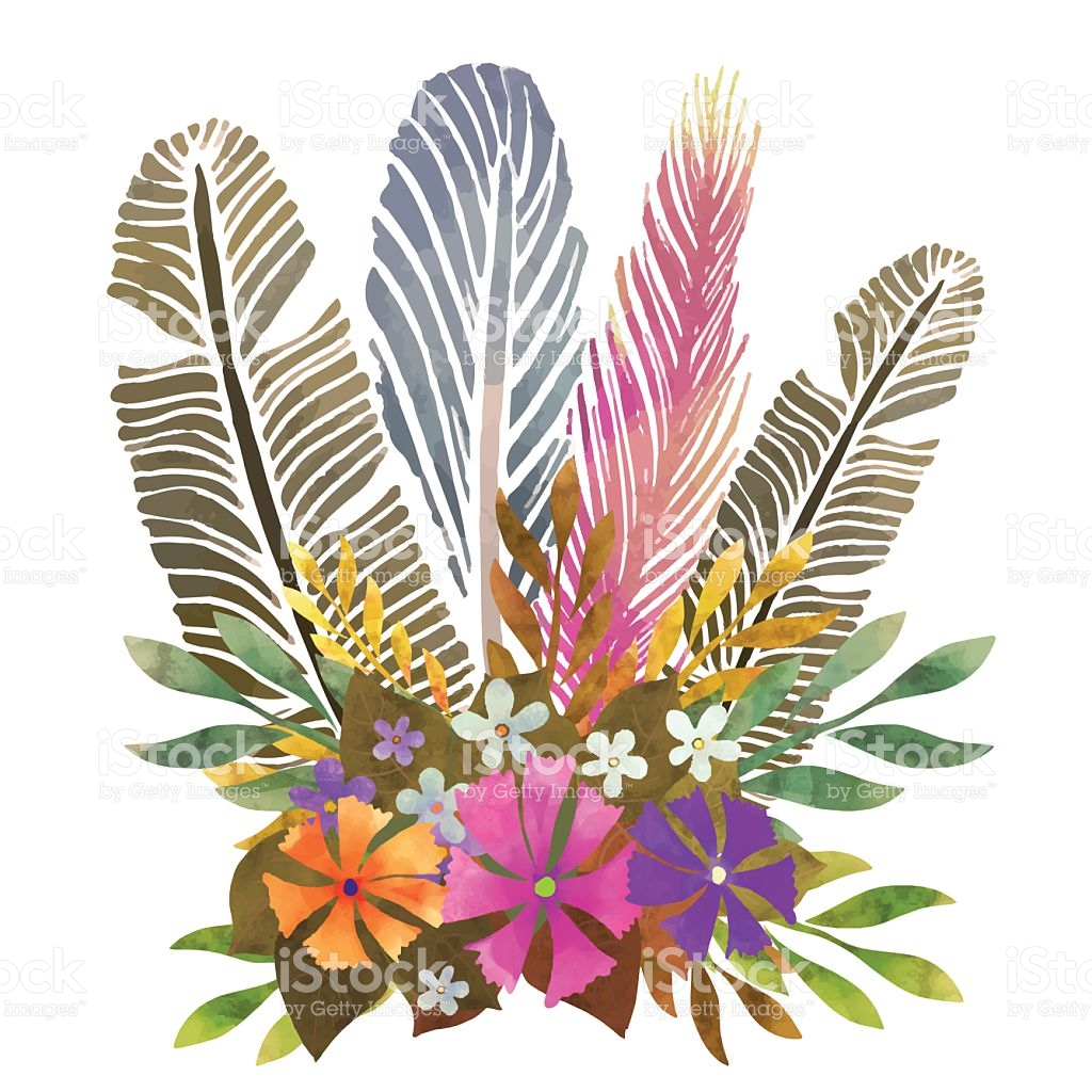 Clip art feather arts. Feathers clipart flower