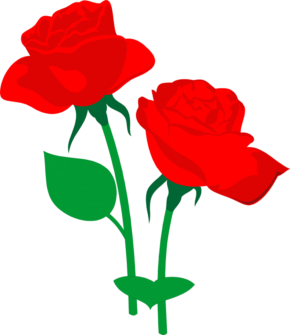 Clipart rose illustration. Roses red free stock