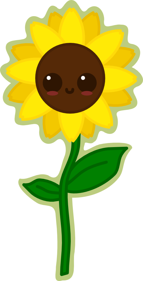 Sunflower by amis deviantart. Lemons clipart kawaii