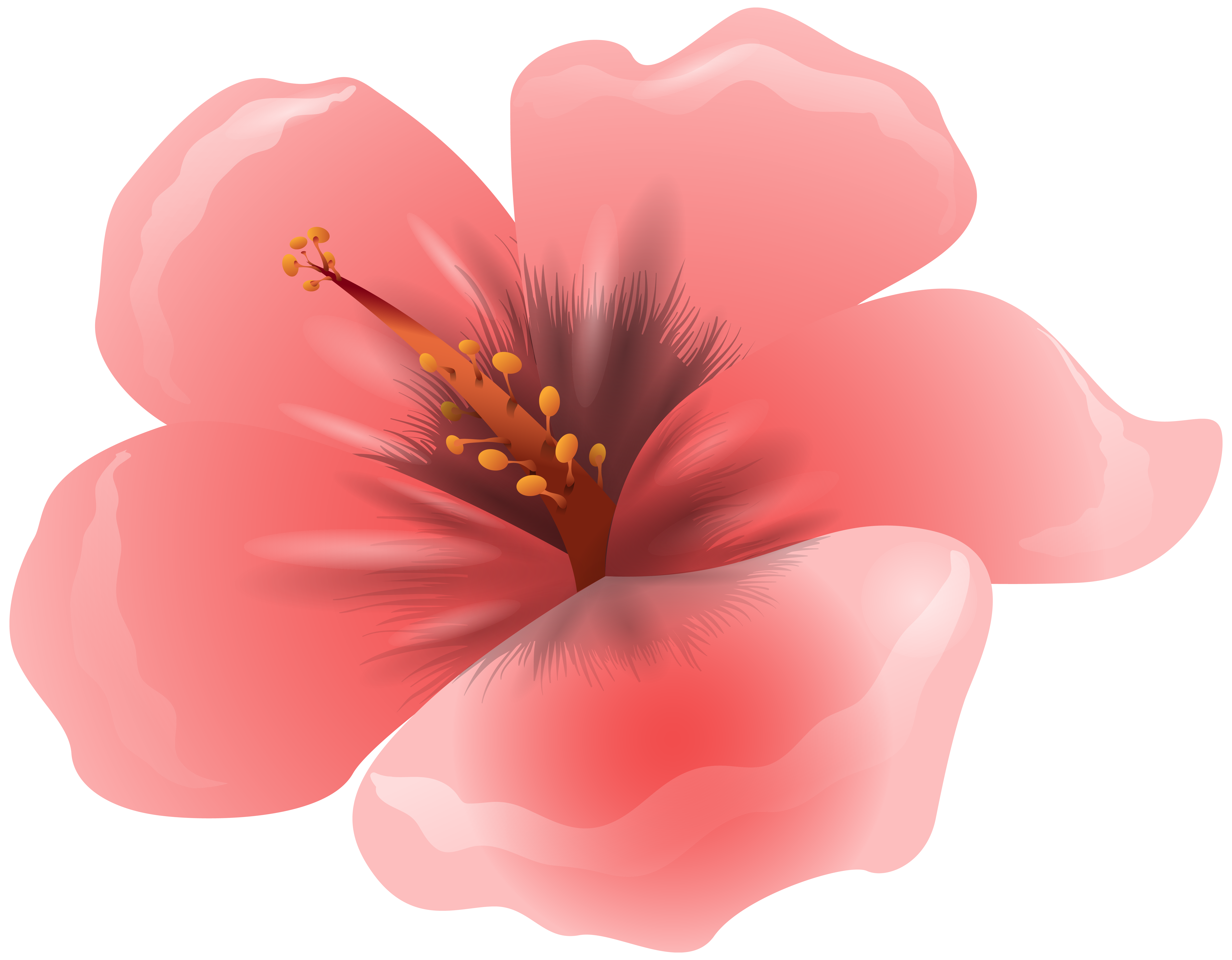 Pink png image yopriceville. Clipart gallery large flower