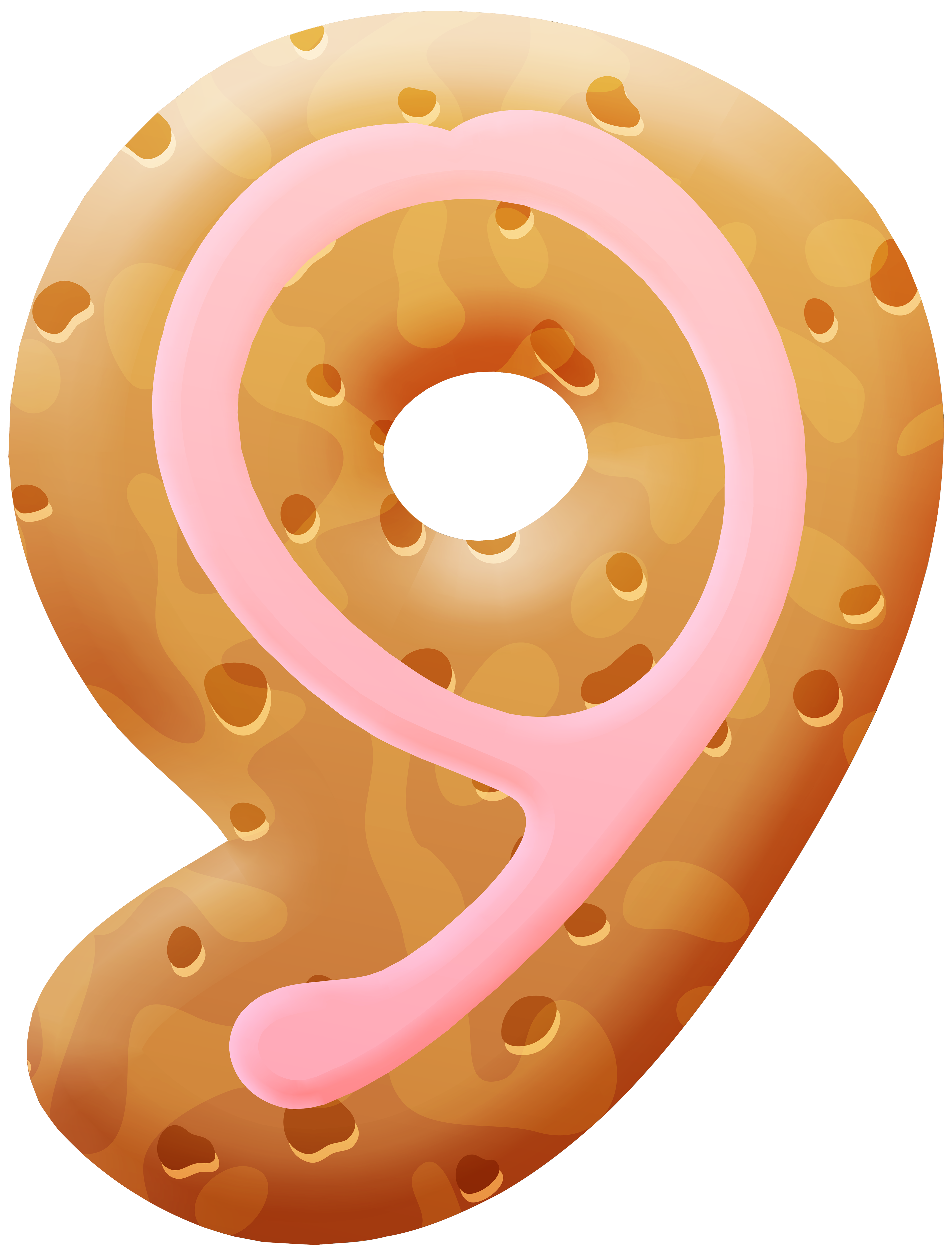 Biscuit number nine png. Donut clipart happy birthday