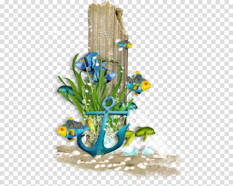 Floral background frame sea. Clipart flowers ocean
