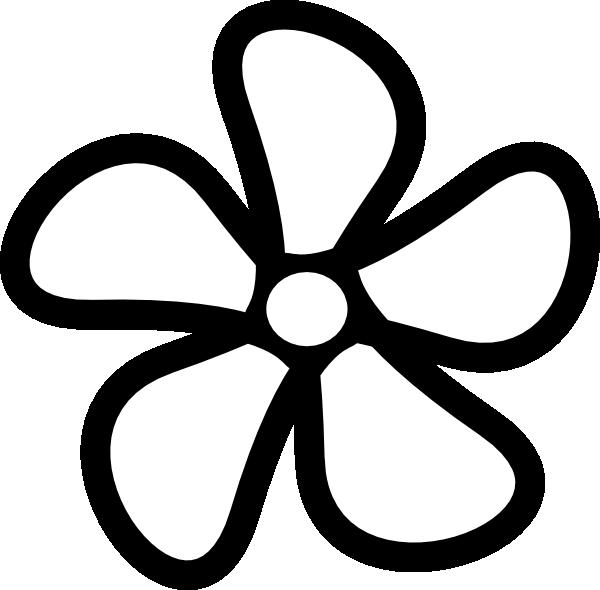 Flower clipart outline. Clip art at clker