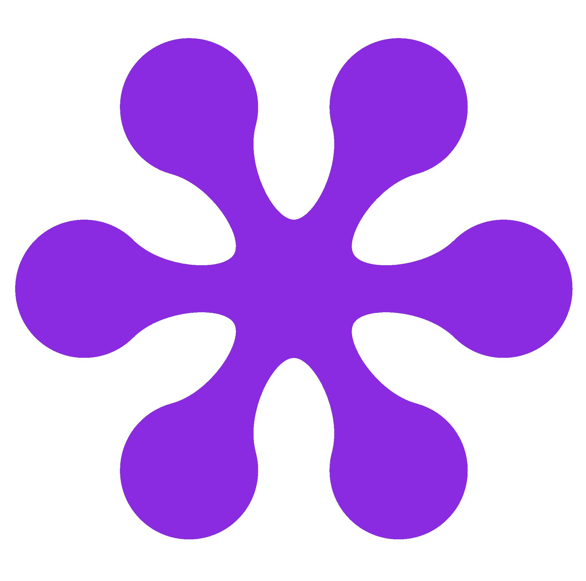 Retro flower group violet. Color clipart maroon