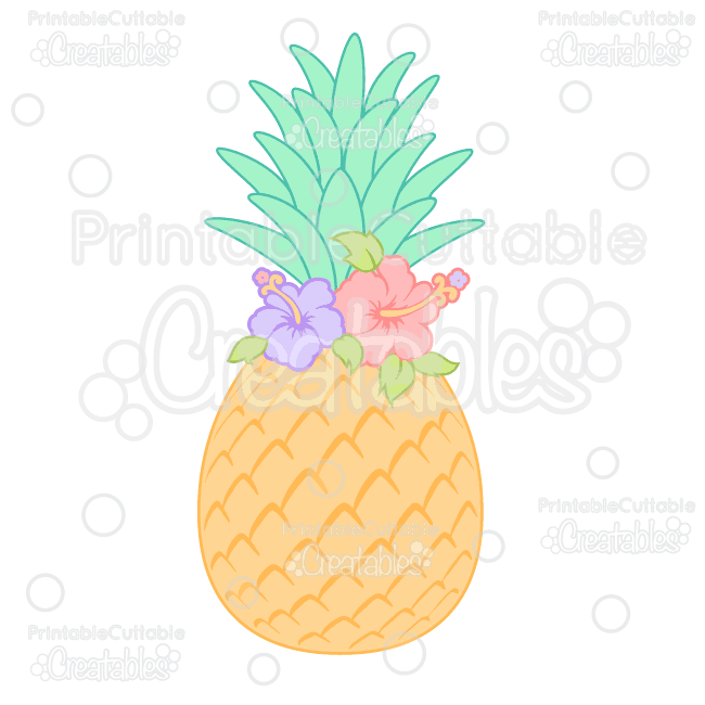 Pineapple clipart flower. Hibiscus svg cutting file
