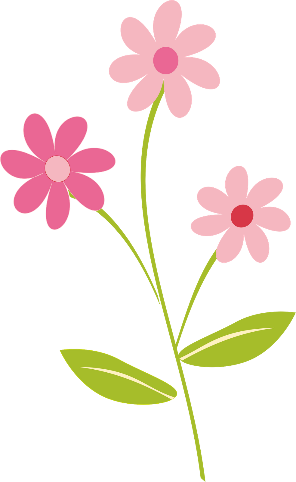 Flower clip art png. Pretty flowers drawing at