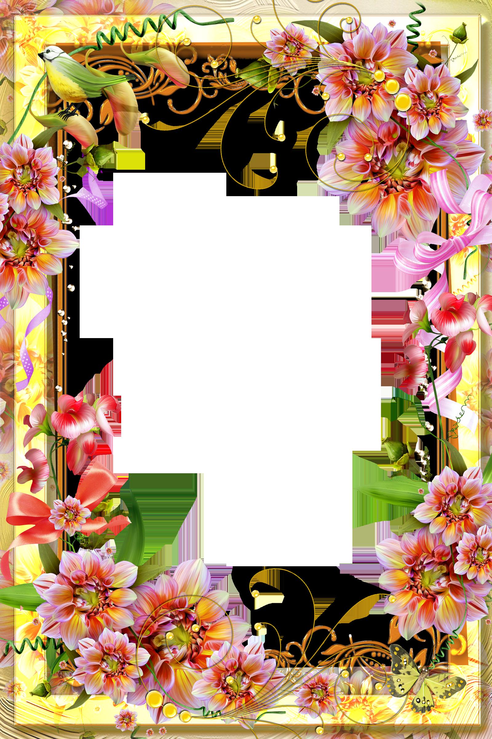 Yellow transparent flower wallpaper. Orchid clipart frame