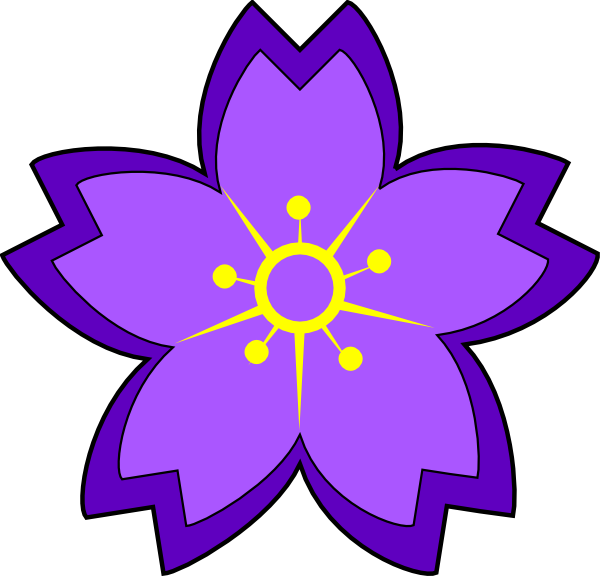 Clipart flowers purple. Flower clip art at