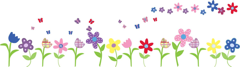 Clip art arts for. Flower clipart row