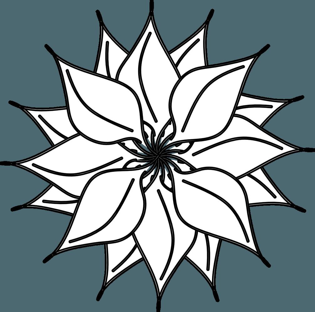 Black white lotus flower. Daisies clipart flowerblack