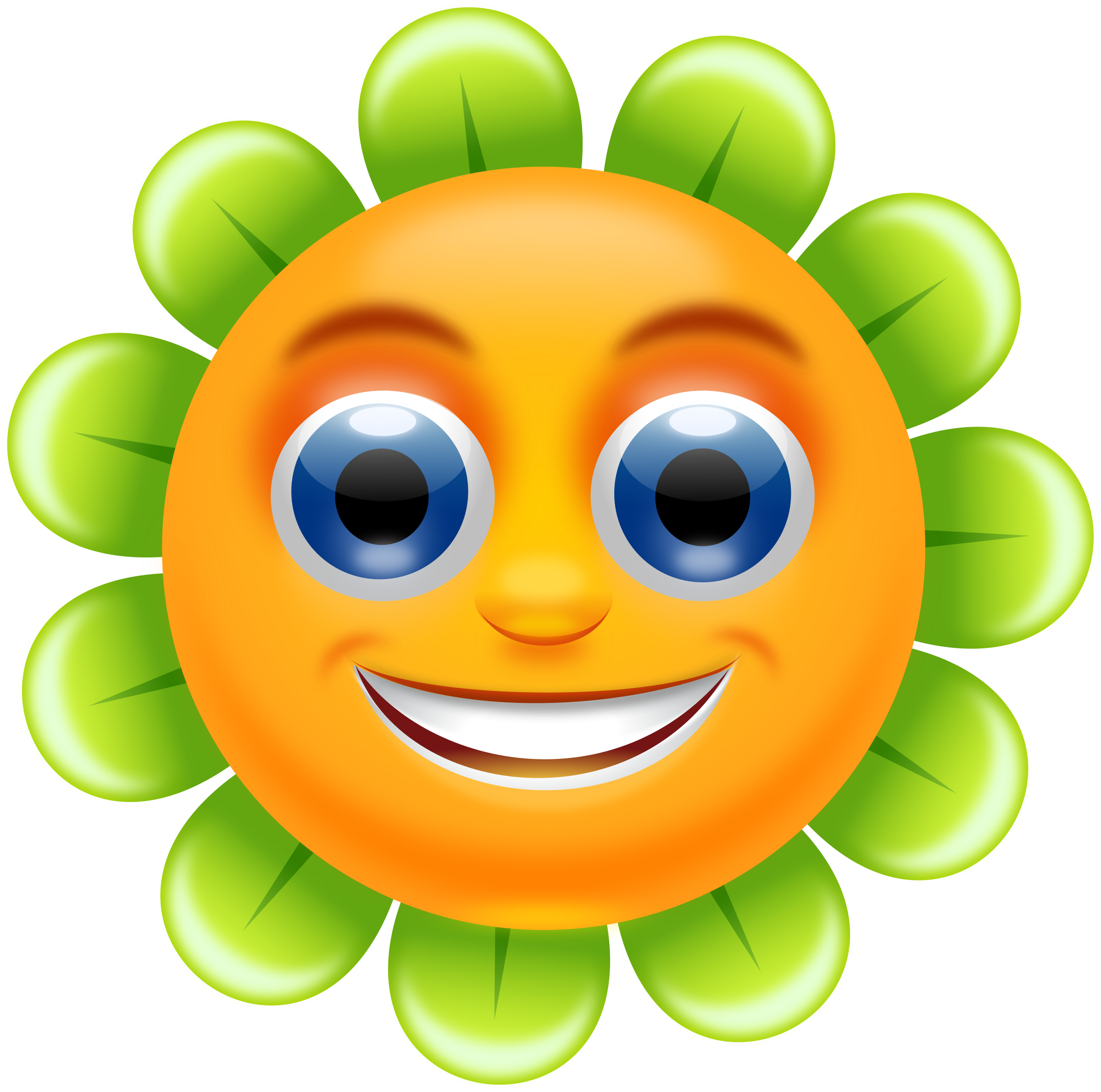 Smiley clipart border. Smiling flower remix by