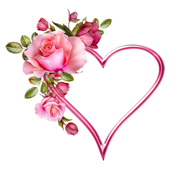 Coeur tube png hearts. Clipart roses embroidery