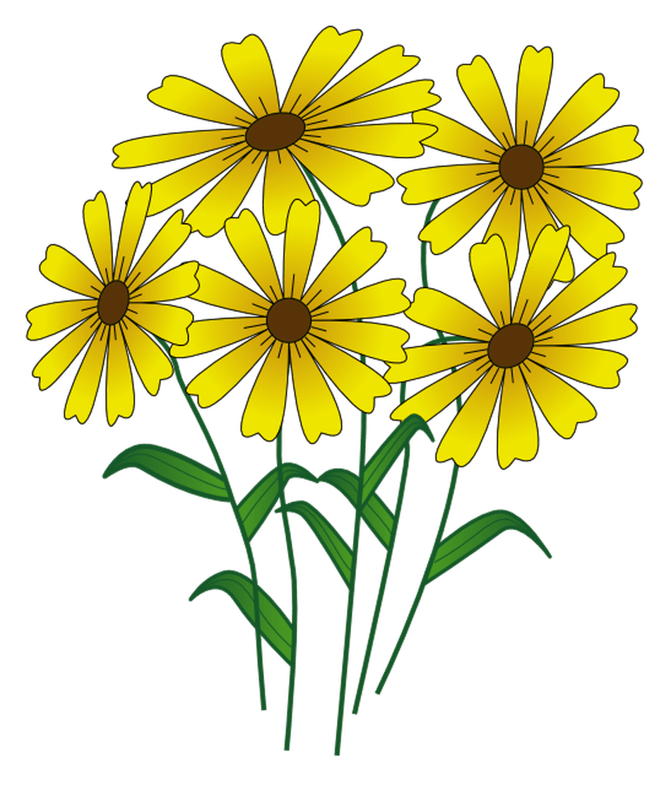 Clipart flowers summer.  high quality free