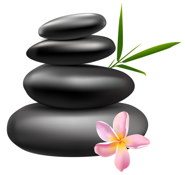 Spa stones with pink. Massages clipart coloring page
