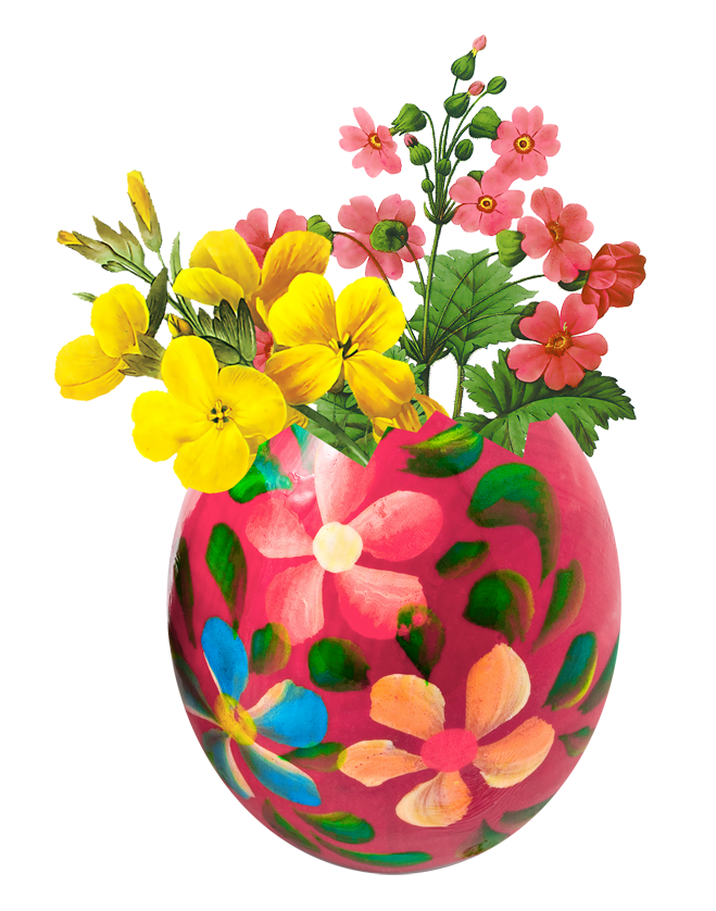 Easter egg png picture. Vase clipart gold