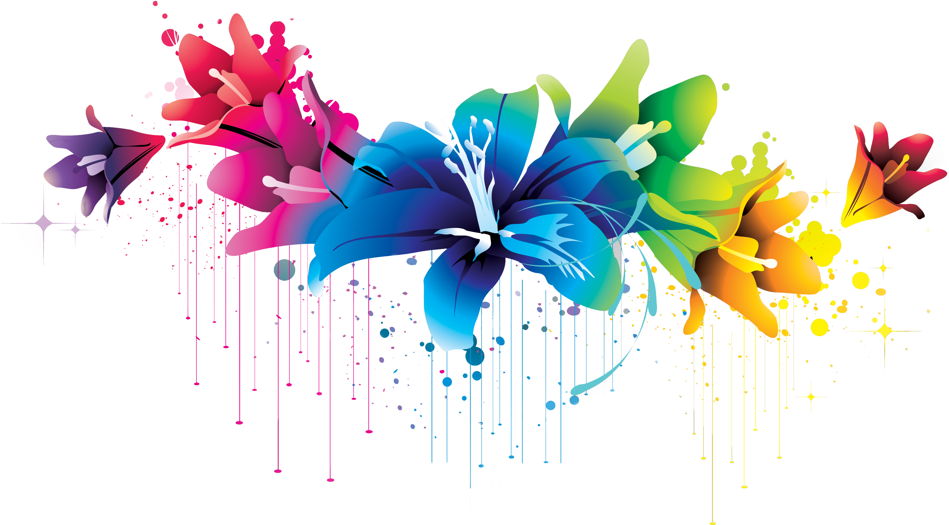 Flower vector png by. Laptop clipart colorful