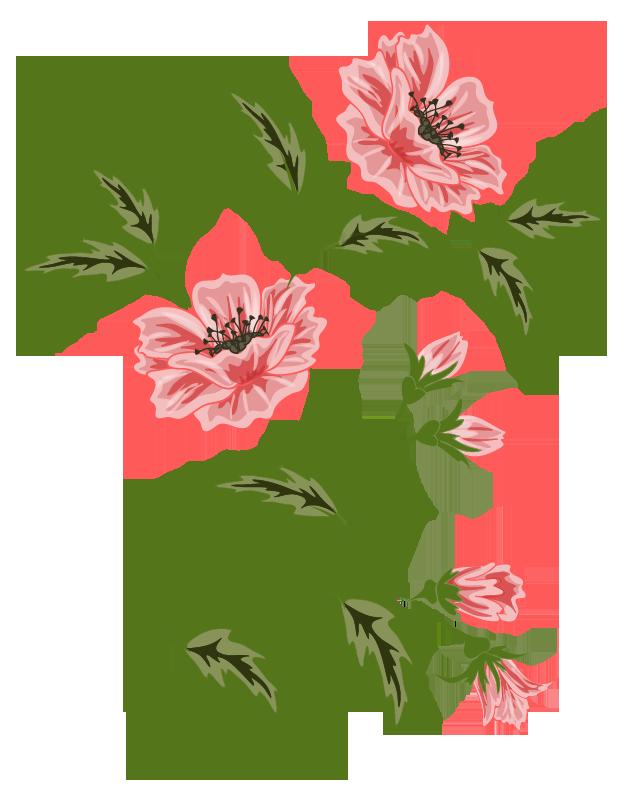Flower clipart vector. Flowers flora pattern pinterest