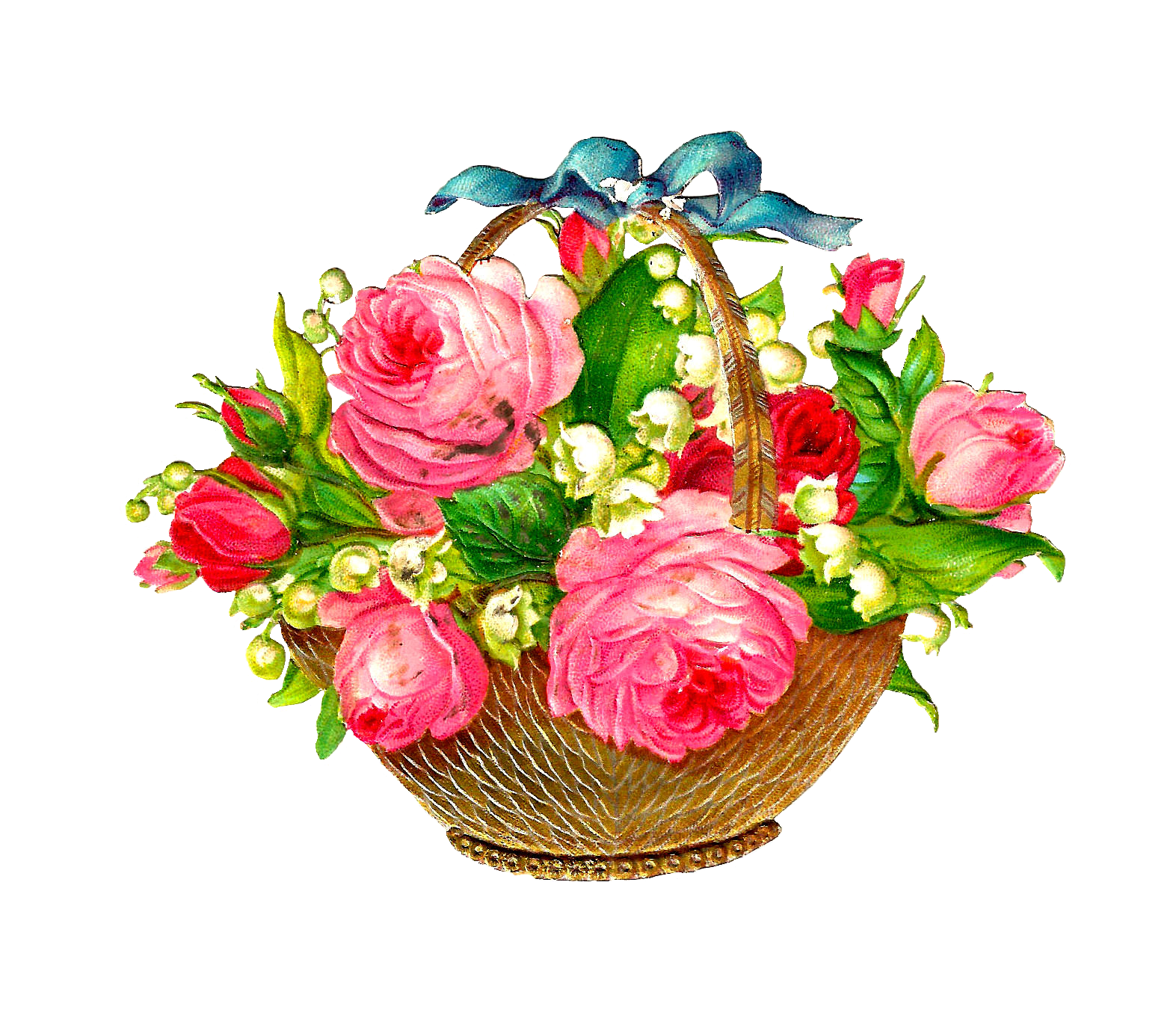 Bouquet of flowers png. Clipart rose bucket