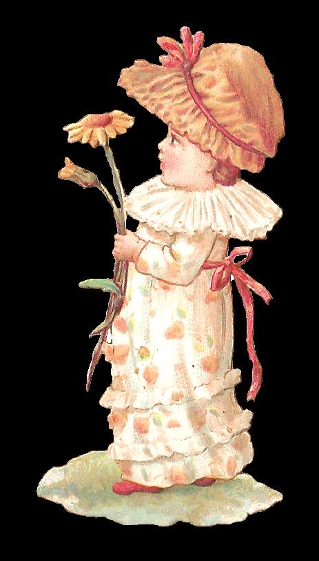 Clipart woman flower. Antique images girl digital