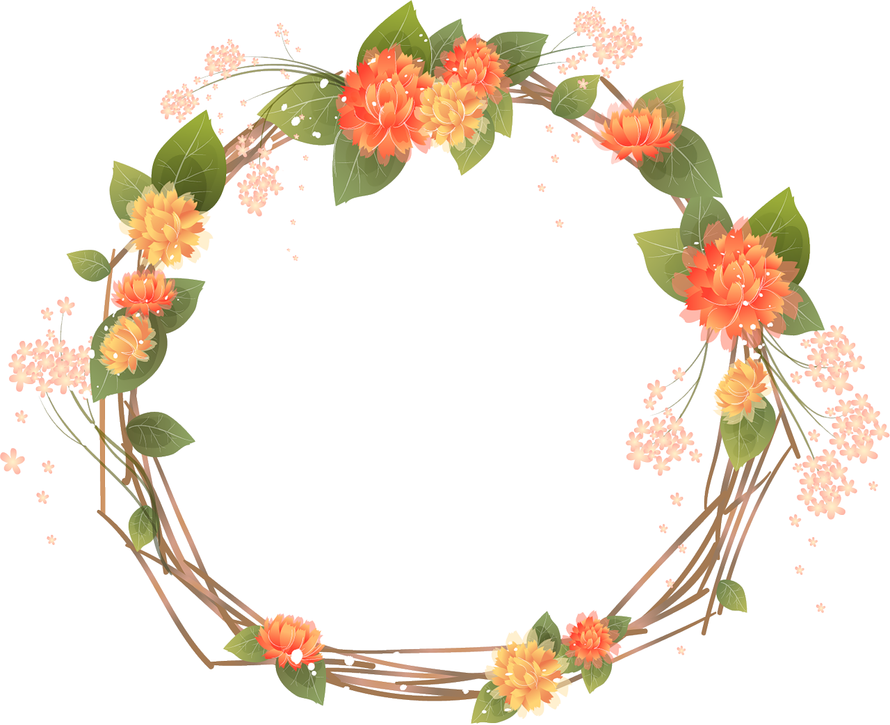 Halloween clipart wreath. Orange frames transparent google