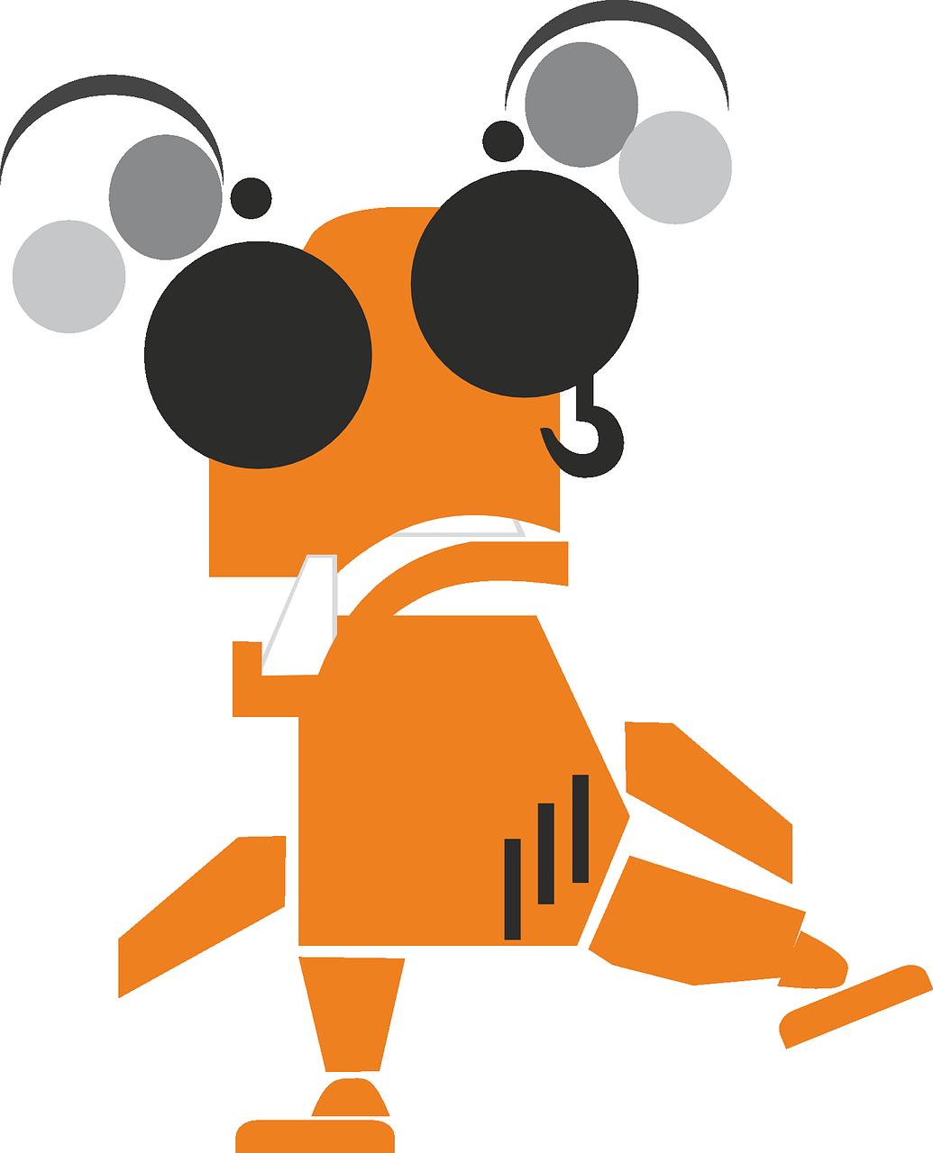 Food clipart alien. Figure robot funny orange