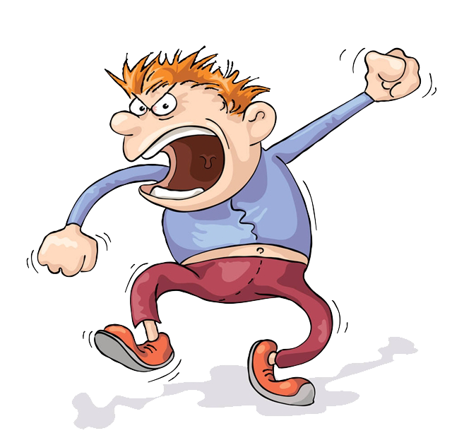 Coconut clipart angry. Screaming anger cartoon clip