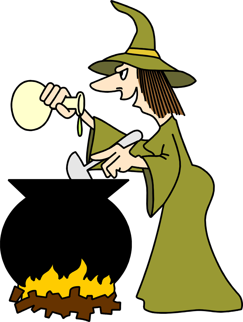 Witchcraft halloween free collection. Clipart food animated