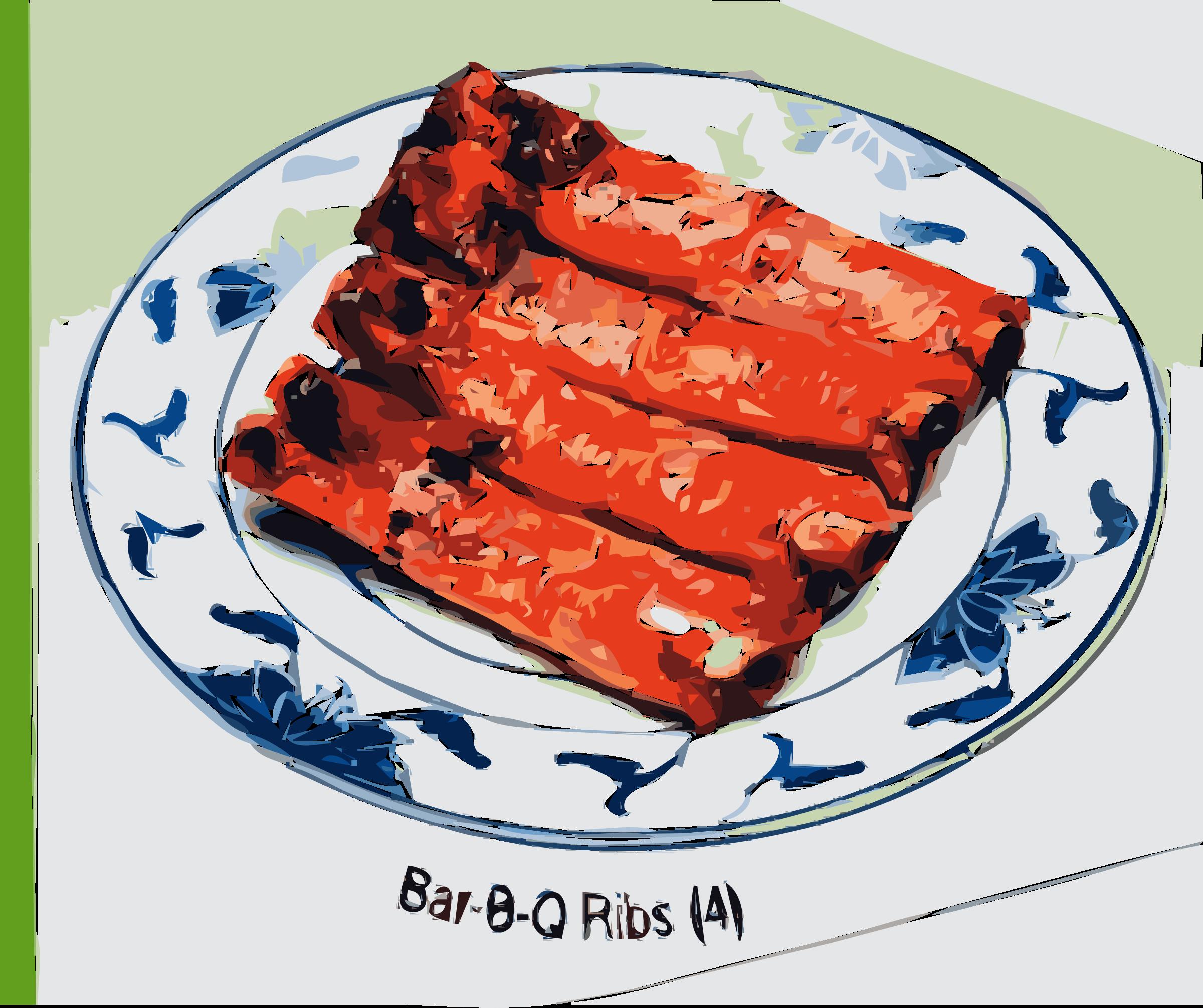 Bar b q ribs. Foods clipart bbq