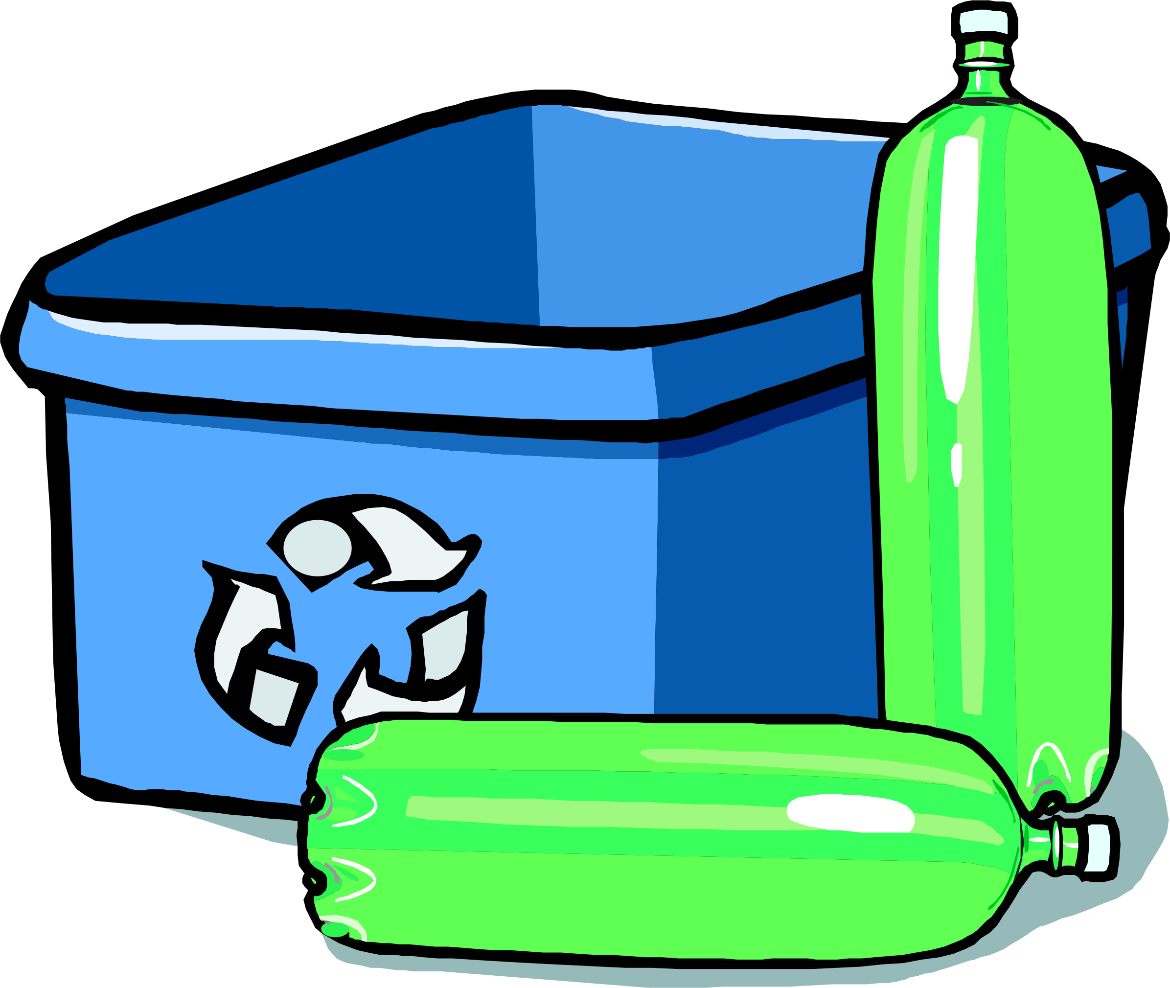 Clipart water bin. Recycling and bottles icons