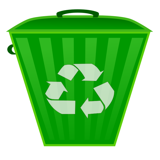 Recycling symbol on . Water clipart bin