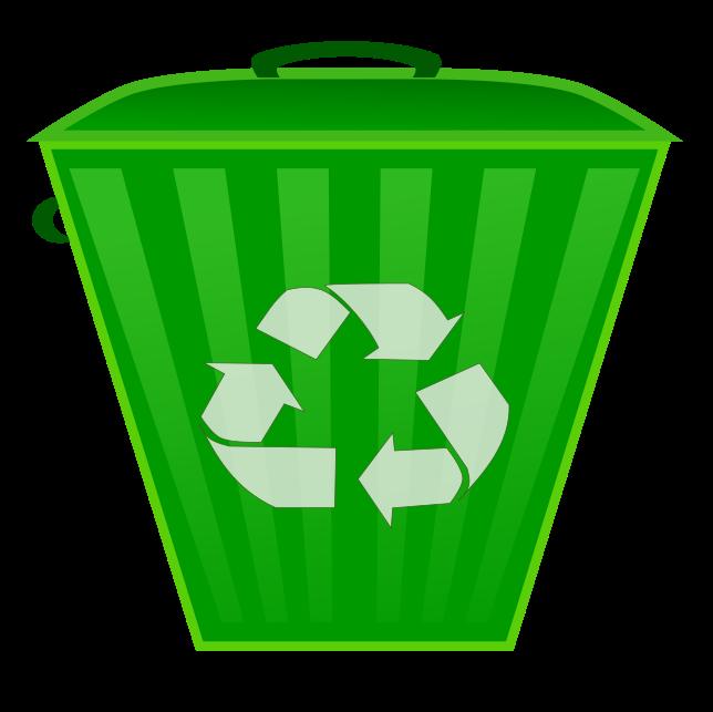 Recycling symbol on . Environment clipart full bin