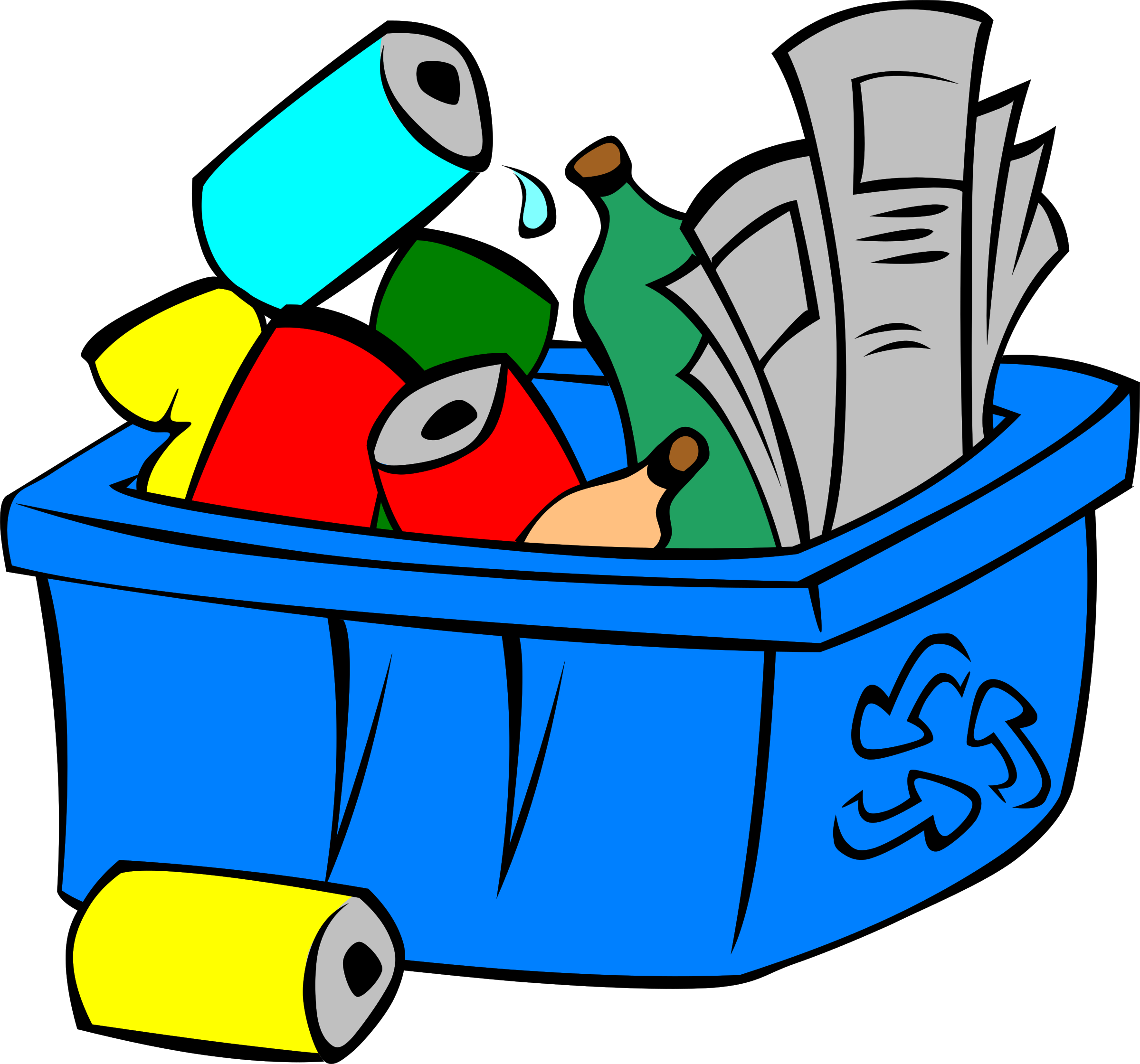 Recycle icons png free. Water clipart bin