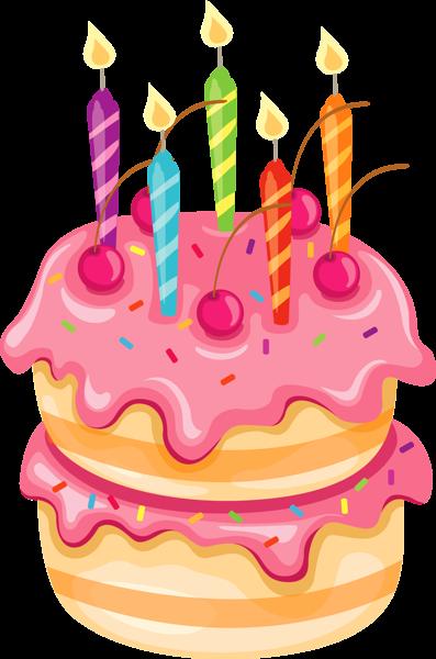 Clipart food birthday. Pink cake clip art