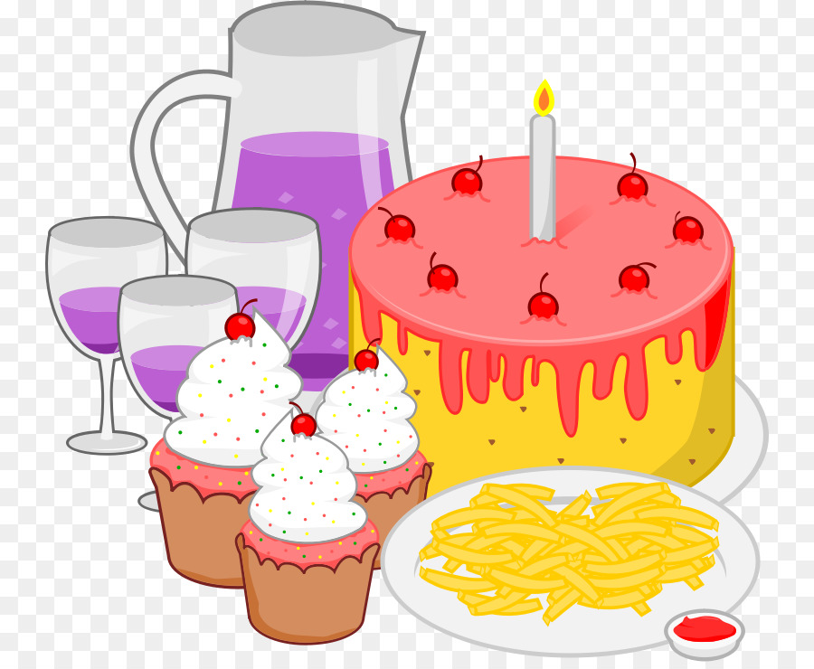 Party background . Clipart food birthday