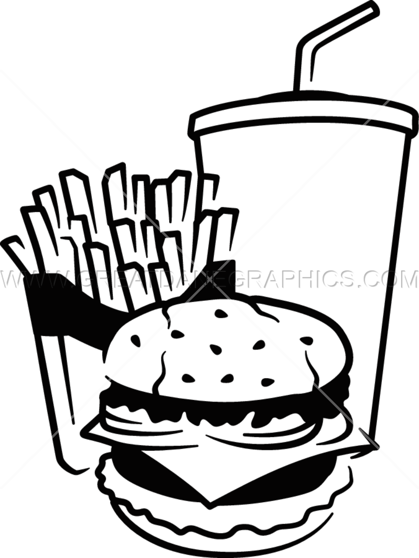 Fast food production ready. French clipart color