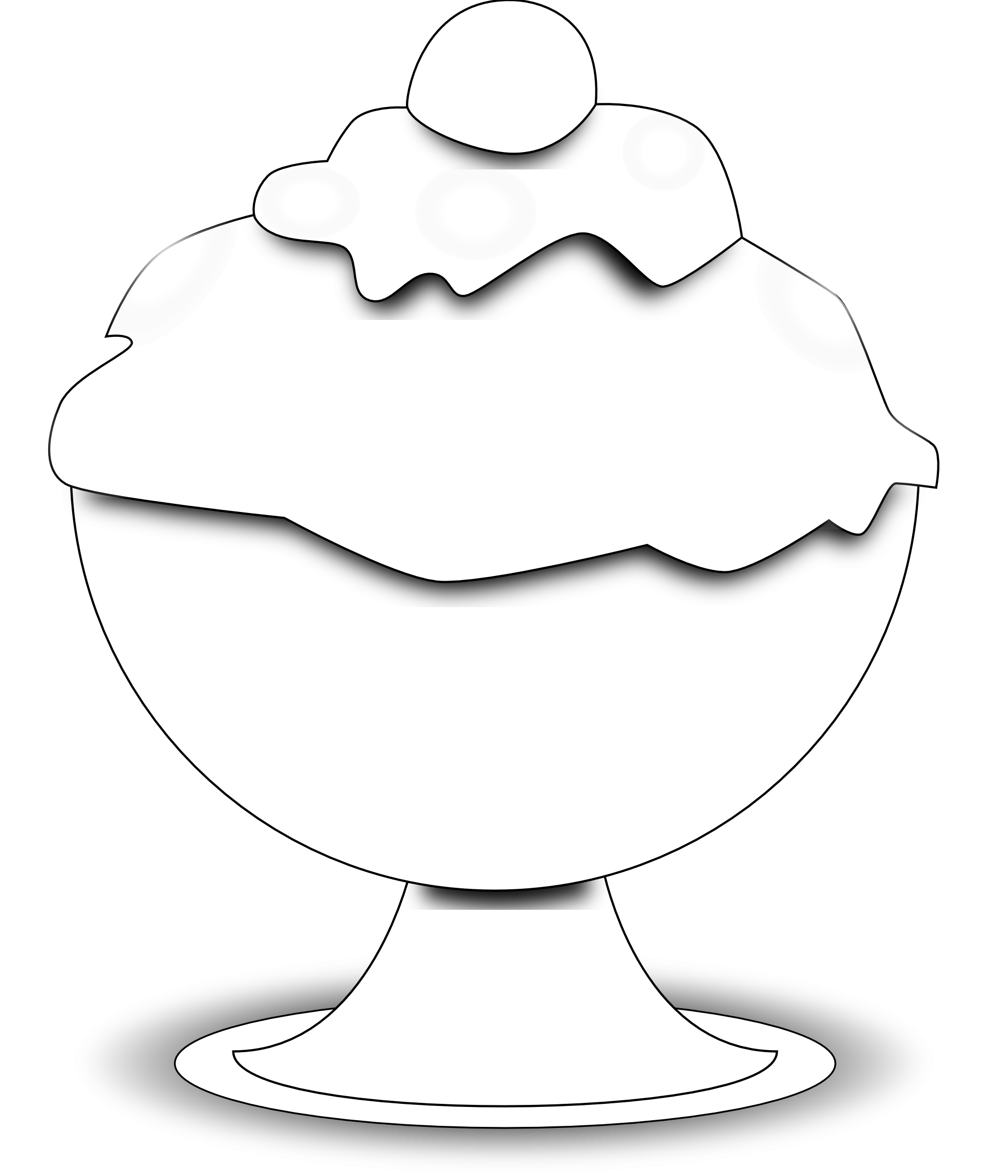 Ice clipart printable. Food black and white