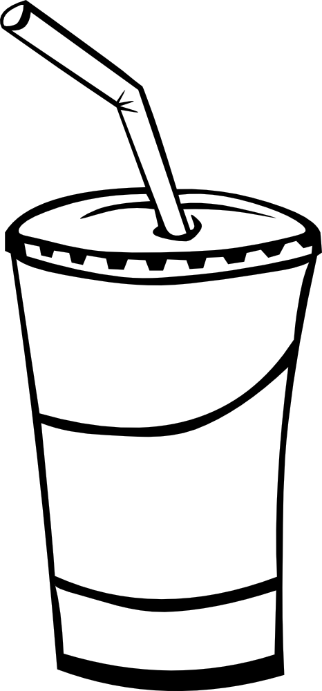 Black and white food. Drink clipart soda italian