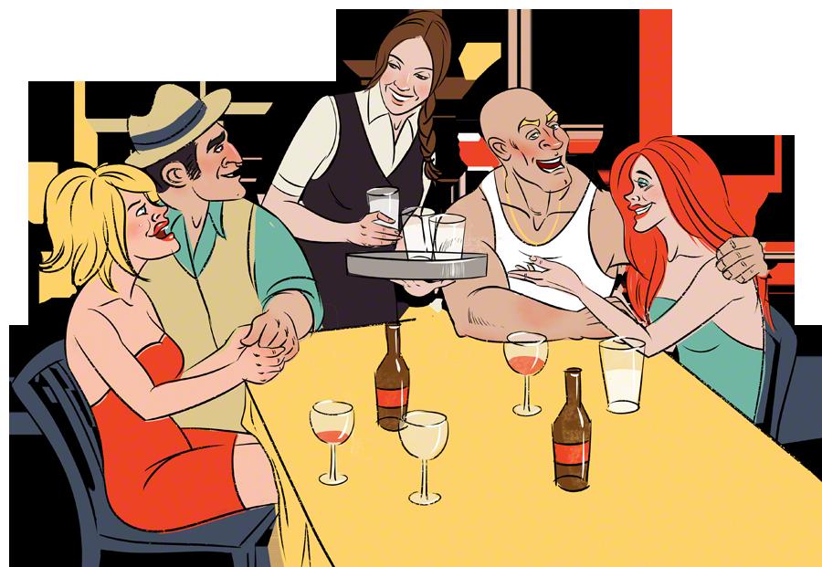 Clipart food cartoon. Alcohol server pencil and