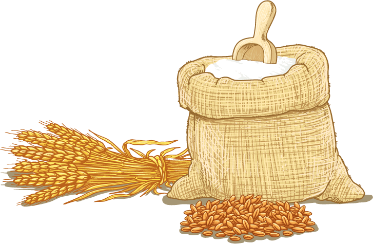 Wheat flour cereal clip. Grains clipart grain bag
