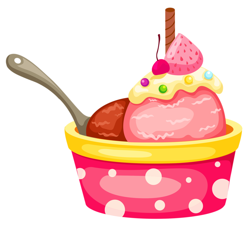 Cute cliparts ice cream. Clipart restaurant pink food