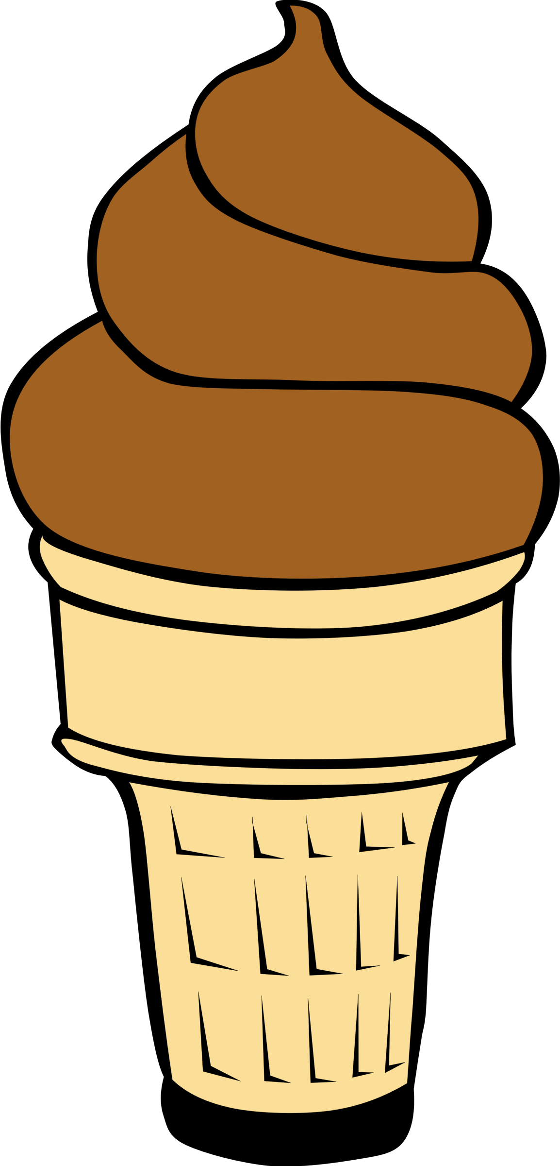 Fast food ice cream. Desserts clipart different