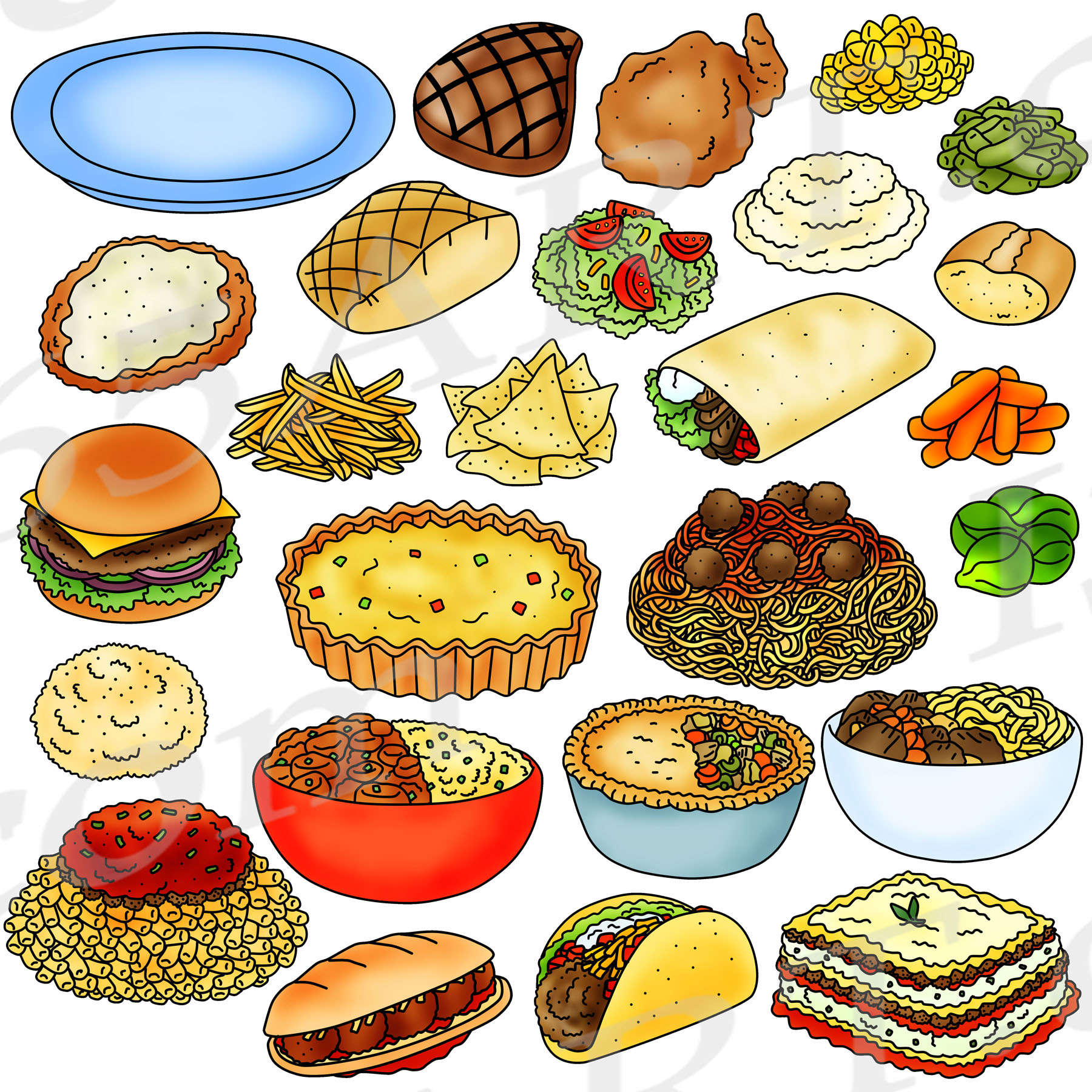 Meals download . Foods clipart dinner
