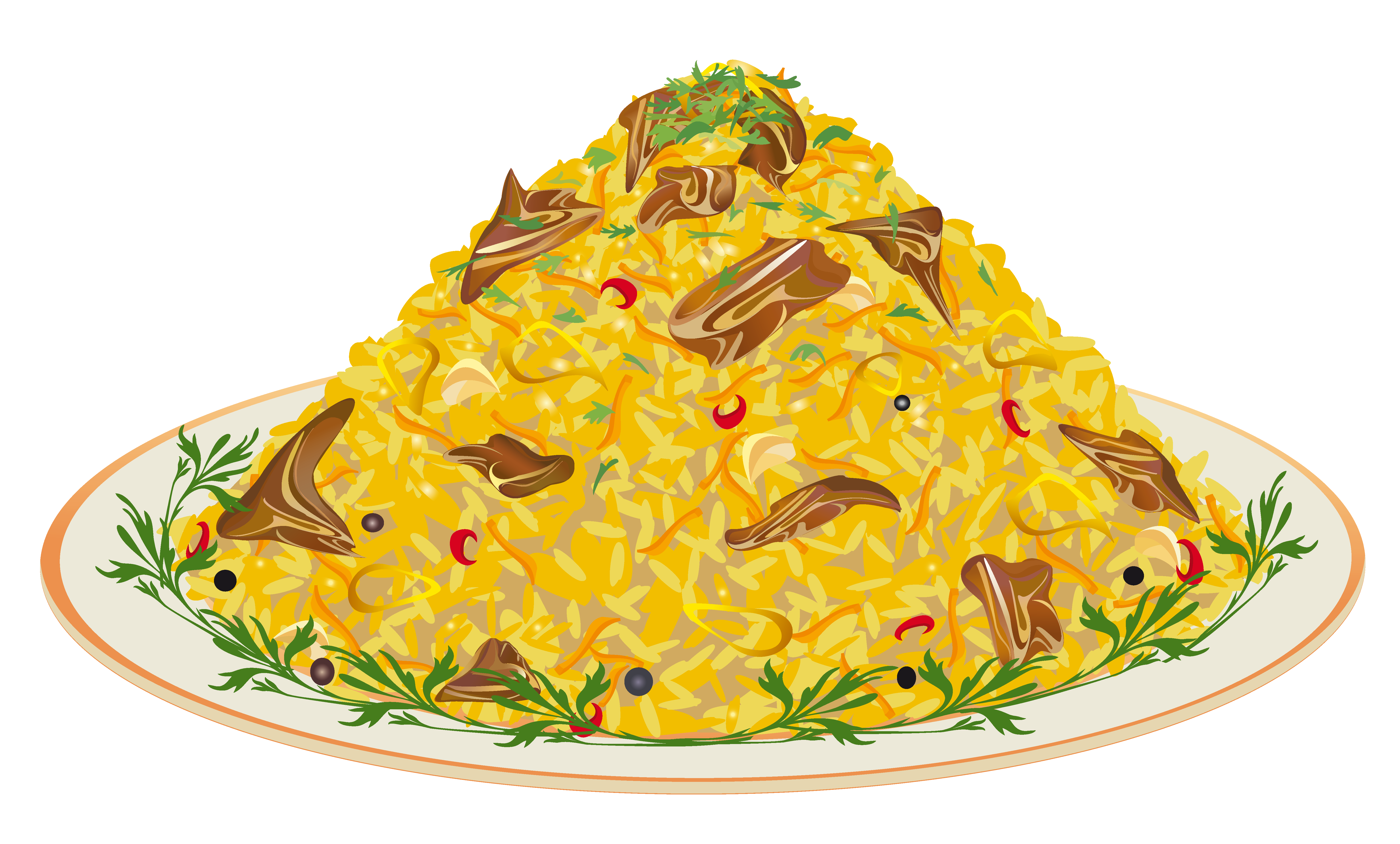 Foods clipart frame.  collection of dishes